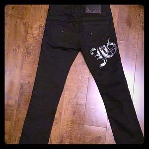 John Galliano black jean pants